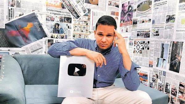 Youtube certifica a Enrique Medina por seguidores