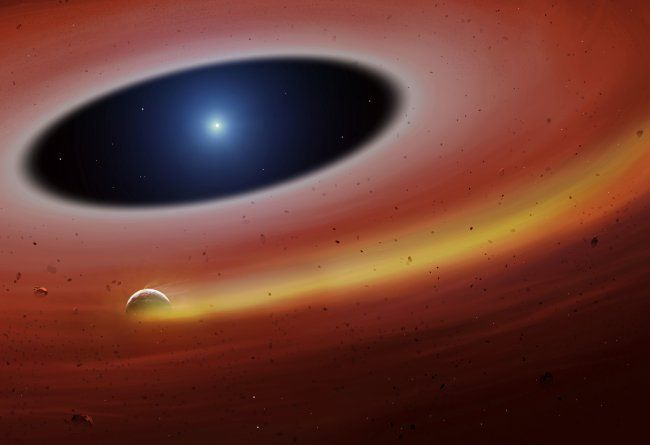 Fragmentos de un planeta sobreviven a la destrucción de su estrella