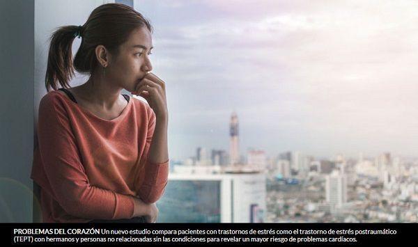 Las personas con trastornos de estrés como el trastorno de estrés postraumático tienen un mayor riesgo de enfermedad cardíaca