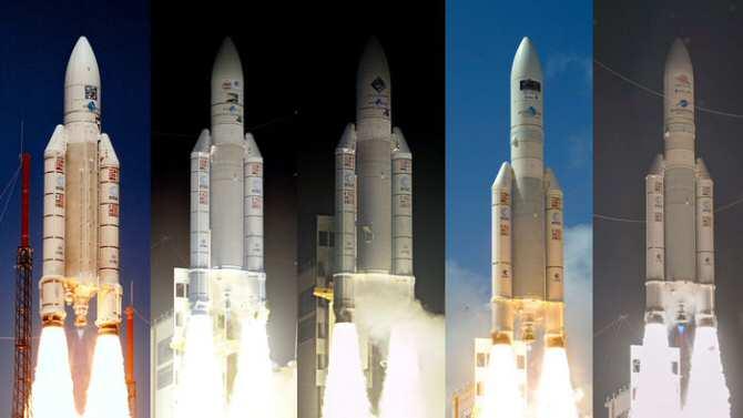 Lanzadores Ariane con misiones científicas a bordo