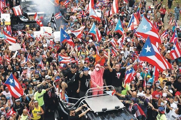 Fiestas en Puerto Rico por la renuncia de Rosselló