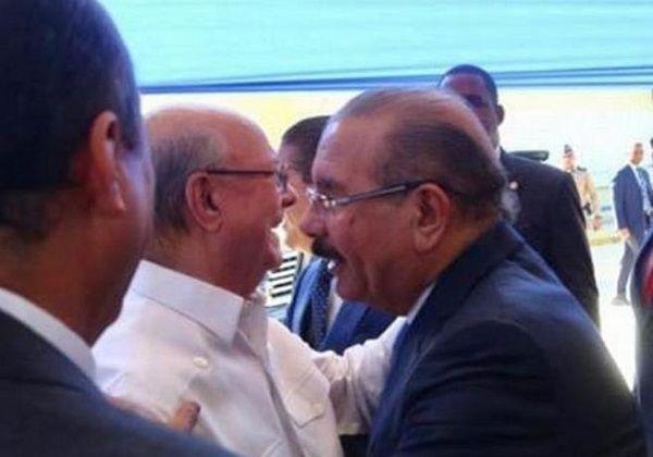 Hipólito y Danilo conversaron ayer en San Cristóbal