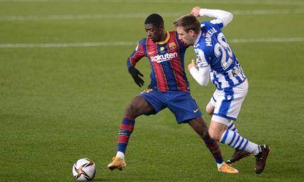 Dembélé lleva al Barcelona a octavos de Copa