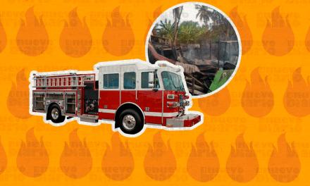 PN investiga origen de incendio que consumió dos viviendas en Montecristi