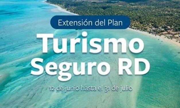 RD extiende nueva vez seguro turístico: abarca hasta el 31 de julio