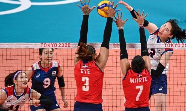 Corea del Sur derrota por 3-2 a Dominicana en el voleibol