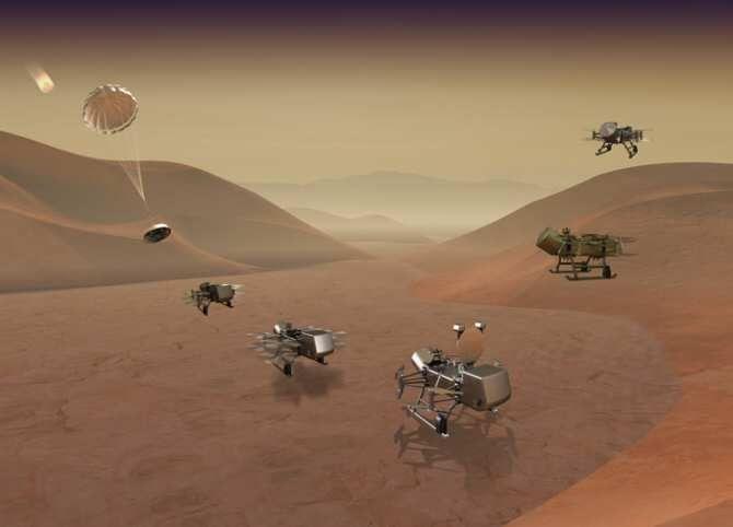 El dron que explorará Titán