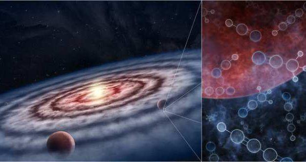 Hallan en zonas de formación de planetas una gran abundancia de sustancias necesarias para la vida