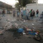 Residentes en Villa Germán protestan en reclamo Alcaldía SDN arregle calles