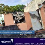 Policía de Haina investiga incendio en residencia