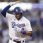 Dodgers sobreviven ante Bravos con tres jonrones de Taylor