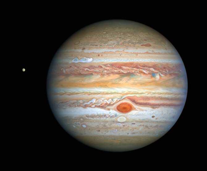 Unos vientos de la Gran Mancha Roja de Júpiter se están acelerando