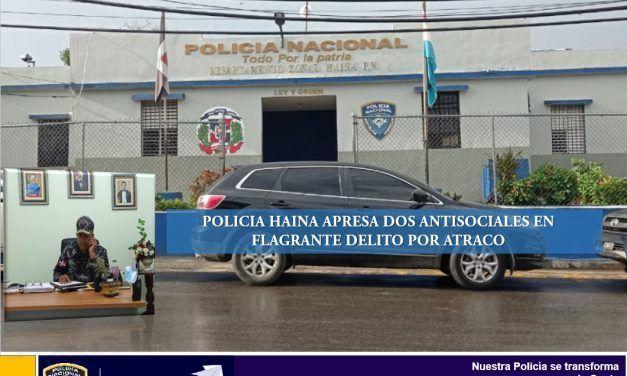 Policía Haina frusta atraco