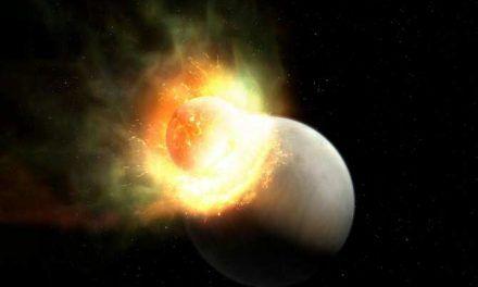 El planeta que perdió su atmósfera por un impacto