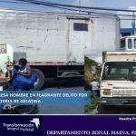 Policía de Haina apresa hombre en flagrante delito por robo de batería