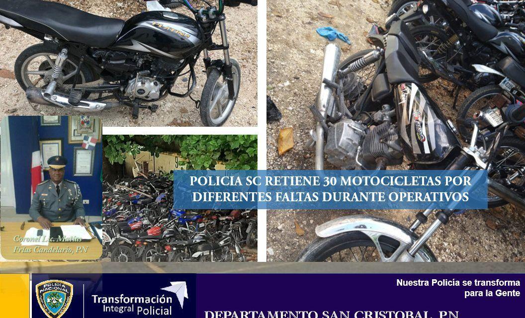 Policía SC recupera varias motocicletas robada