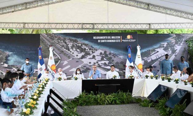 Turismo invertirá 550 millones de pesos para remozar malecón de Santo Domingo Este